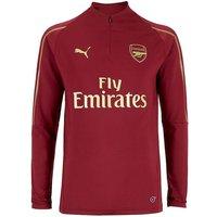 2018-2019 Arsenal Puma Half Zip Training Top (Red) - Kids