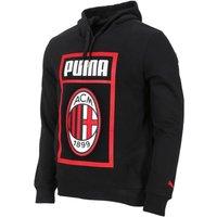 2018-2019 AC Milan Puma Shoe Tag Fan Hoodie (Black)