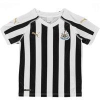 Puma Kids Nufc Home Replica Jr T-Shirt, WhiteBlack, Size 140