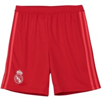 adidas Boys Real Madrid Third Shorts 2018 2019 Red UK 9-10 MB
