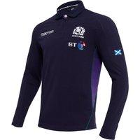 2018-2019 Scotland Home LS Cotton Rugby Shirt