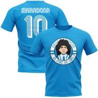 Image of Diego Maradona Argentina Illustration T-Shirt (Sky)