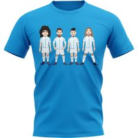 Argentina Players Illustration T-Shirt (Sky)