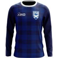 2018-2019 Scotland Long Sleeve Tartan Concept Football Shirt (Kids)