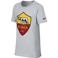 2018-2019 AS Roma Nike Evergreen Crest Tee (Wolf Grey) - Kids