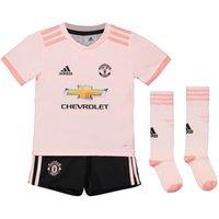 2018-2019 Man Utd Adidas Away Little Boys Mini Kit