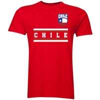 Image of Chile Core Football Country T-Shirt (Red)