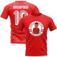 Marcus Rashford Man Utd Illustration T-Shirt (Red)