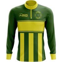 Adygea Concept Football Half Zip Midlayer Top (Green-Yellow)