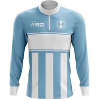 Guatemala Concept Football Half Zip Midlayer Top (Sky Blue-White)