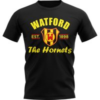 Watford Established Football T-Shirt (Black)
