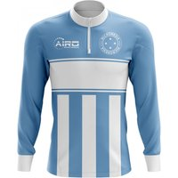 Micronesia Concept Football Half Zip Midlayer Top (Sky Blue-White)