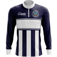 Montserrat Concept Football Half Zip Midlayer Top (Navy-White)
