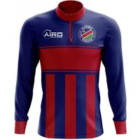 Namibia Concept Football Half Zip Midlayer Top (Blue-Red)