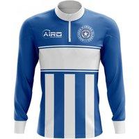 Northern Mariana Islands Concept Football Half Zip Midlayer Top (Blue-White)