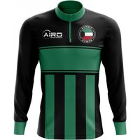 Kuwait Concept Football Half Zip Midlayer Top (Black-Green)
