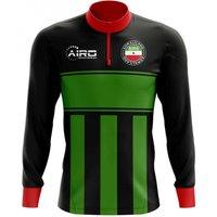 Somaliland Concept Football Half Zip Midlayer Top (Black-Green)