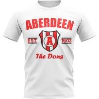 Aberdeen Established Football T-Shirt (White)