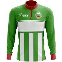 Bulgaria Concept Football Half Zip Midlayer Top (Green-White)