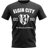 Elgin City Established Football T-Shirt (Black)