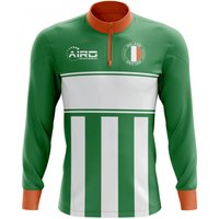 Ireland Concept Football Half Zip Midlayer Top (Green-White)
