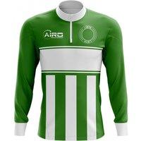 Libya Concept Football Half Zip Midlayer Top (Green-White)