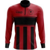 Albania Concept Football Half Zip Midlayer Top (Red-Black)