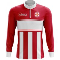 Guernsey Concept Football Half Zip Midlayer Top (Red-White)