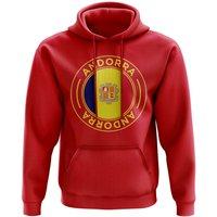 Andorra Football Badge Hoodie (Red)