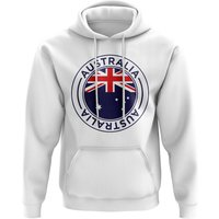 Australia Football Badge Hoodie (White)