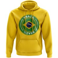 Brazil Football Badge Hoodie (Yellow)