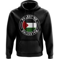 Palestine Football Badge Hoodie (Black)
