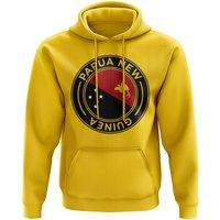 Papa New Guinea Football Badge Hoodie (Yellow)