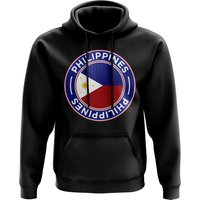 Philippines Football Badge Hoodie (Black)