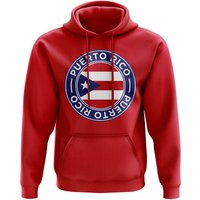 Puerto Rico Football Badge Hoodie (Red)