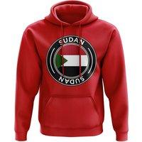 Sudan Football Badge Hoodie (Red)