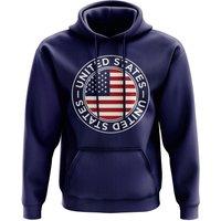 Image of USA Football Badge Hoodie (Navy)