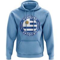 Uruguay Football Badge Hoodie (Sky)