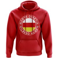 North Ossetia Football Badge Hoodie (Red)