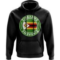 Image of Zimbabwe Football Badge Hoodie (Black)