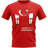 Lacazette Aubameyang Arsenal Player Graphic T-Shirt (Red)