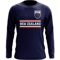 New Zealand Core Football Country Long Sleeve T-Shirt (Navy)