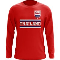 Thailand Core Football Country Long Sleeve T-Shirt (Red)