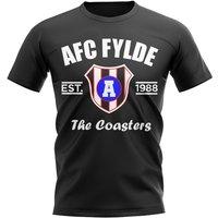 AFC Fylde Established Football T-Shirt (Black)
