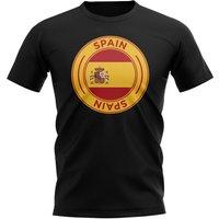 Spain Football Badge T-Shirt (Black)