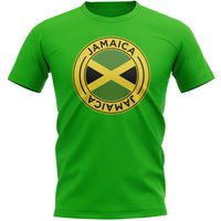 Jamaica Football Badge T-Shirt (Green)