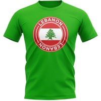 Lebanon Football Badge T-Shirt (Green)