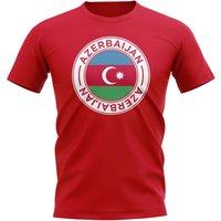 Image of Azerbaijan Football Badge T-Shirt (Red)