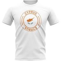 Cyprus Football Badge T-Shirt (White)