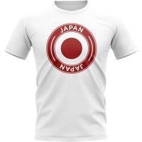 Japan Football Badge T-Shirt (White)